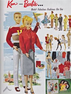1959 catalog.....my barbie...brunette in the striped bathing suit!