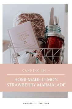 Easy canning details, canning for beginners and a fun way to use Ball® jars for crafts, gift baskets and spreading a little kindness, all while keeping traditions and making memories. Strawberry Lemonade Marmalade recipe #ad