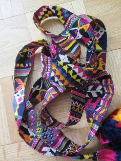 """Fabulous Tasseled Guatemalan """"cinta"""" - Headwrap: available from MayaWorks Vintage on Etsy"""