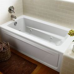 Shop JACUZZI Primo White Acrylic Rectangular Whirlpool Tub (Common: X  Actual: X X At Loweu0027s Canada. Find Our Selection Of Bathtubs U0026 Whirlpool  Tubs At The ...