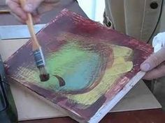 How to Use a Slotted Brush in Encaustic Paintings ---interessante-