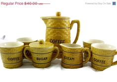 BIG SALE Vintage Coffee Server Hostess Set by EclecticVintager, $32.00