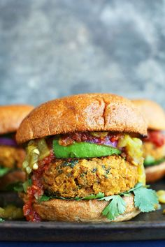 One bowl, 30-minute Southwest-inspired green chili veggie burgers made with chickpeas, mild green chilies and crushed tortilla chips. Tender, flavorful and surprisingly satisfying! A healthy vegan, gluten-free optional meal with protein and fiber!