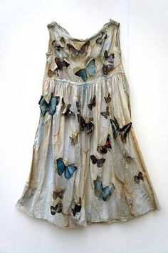 Louise Richardson tattered dress with butterfly attachments