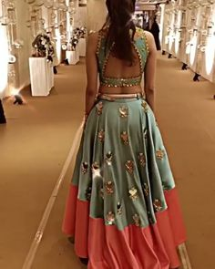 36 indian lehenga choli designs for pre wedding functions 28 Choli Blouse Design, Saree Blouse Neck Designs, Choli Designs, Fancy Blouse Designs, Lehenga Designs, Indian Bridal Outfits, Indian Designer Outfits, Stylish Blouse Design, Queen Dress