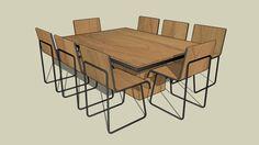 Dinner Table Tikaio - 3D Warehouse