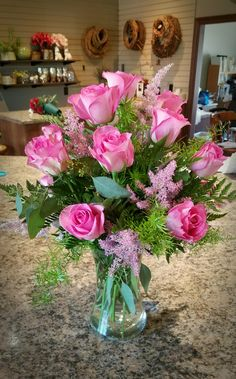 Women's Special: Four-Strategies Flowers Can Modify Your Working Day-To-Day Lifestyle 1 12 Dz Pink Roses Valentine Flower Arrangements, Rose Flower Arrangements, Flower Arrangement Designs, Valentines Flowers, Flower Designs, Unique Flowers, Pretty Flowers, Silk Flowers, Church Flowers