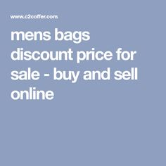 mens bags discount price for sale - buy and sell online
