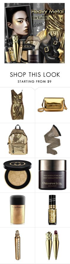 """""""heavy metal"""" by lavida ❤ liked on Polyvore featuring River Island, Marni, Moschino, Wolford, Gucci, Omorovicza, MAC Cosmetics, L'Oréal Paris, Chantecaille and Christian Louboutin"""
