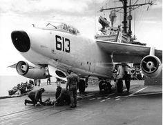 VAH-5 Savage Sons A-3 Skywarrior aboard USS Forrestal.
