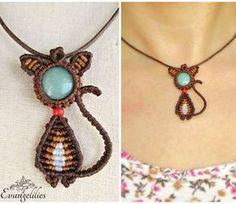 "✿ ""A cat named Sfaira"" macrame pendant with Aventurine semi-precious stone. #evangelilies #handmadejewelry #handmade #jewelry #necklace #handmadewithlove #handmadenecklace #madeingreece #madebyme #bohojewelry #bohonecklace #micromacrame #macrame #macramenecklace #macramejewelry #macramelove #macrameart #micromacramejewelry #aventurine #aventurinependant #hippiejewelry #catlovers #catjewelry #catpendant #aventurinejewelry #macrameartist #handmadependant #knottedjewelry #macramecat"