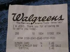 This Is Really Walgreens' Fault For The Wording  Jesus has heard it before and he's had enough of it, OK!?
