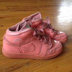 Rare Pink OG Air Jordan 1's ! Size 5y = 6.5 in women's , rare find Originals! Decent condition 7/10 few creases in the toe area , from 2009!  Nike Shoes Sneakers