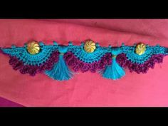 New latest tassels design with beads/kucchu tutorial/krosha saree kuchu making /gonde design Saree Kuchu Designs, Saree Tassels, Crochet Necklace, Honey, Sari, Make It Yourself, Beads, Sewing, Blouse