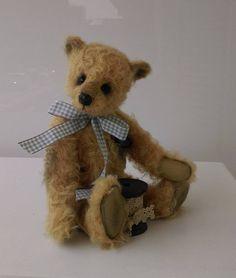 Boris, a soft bear.  Made by Elisabears.