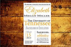 College Graduation Announcement by JGSPaperworks on Etsy, $6.00
