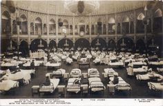 WW1 Indian soldiers in hospital at Brighton's Dome. A carefully staged photograph