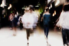 Blurred Men. slow shutter. blur ghost.