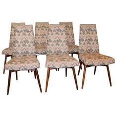Set of 6 Dining Chairs by Adrian Pearsall