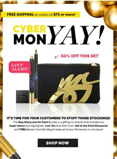 BOGO 50% OFF EXTENDED! Mega Cyber Deal Our Fierce Stay Sharp & on Point Bundle 50% off! DEAL ENDS TONIGHT!  www.BeautyFierceNFabulous.com  #bogodeal  #bogo #megamakeupsale #cybermonday #makeup #cosmeticslife #cosmeticsjunkie #Fierce #onpoint #sharp #bundles #momtrepreneur #tarte #tyrabanks #beautybabes #sister #brother #aunt #uncle #mom #girlfriends #wife #fabulous #fab #browsonpoint #eyes #smize #mac #younique #marykay