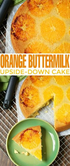 Indulge a little with this citrus alternative to a pineapple upside-down cake. I think he orange slices are remarkably pretty, especially with the bits of caramelisation that happen while this Orange Buttermilk Upside-Down Cake bakes. Great Desserts, Best Dessert Recipes, Cookie Desserts, Cupcake Recipes, Sweet Recipes, Delicious Desserts, Cupcake Cakes, Cupcakes, Yummy Treats