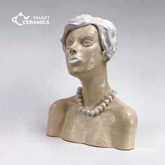 rzeźba KOBIETA Z PERŁAMI / smart ceramics / Dekoracja Wnętrz / Ceramika