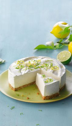 Philadelphia Cheesecake Recipe - Lime-sitruuna-juustokakku