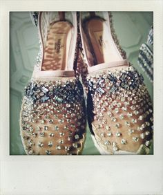 selfservicemagazine:  crystal encrusted espadrilles at Valentino, Paris.