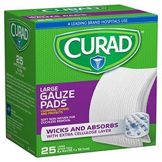 Curad Non-Woven Sterile Large Gauze Pad, x 10 Pack First Aid Kit Supplies, First Aid Kit Contents, First Aid Classes, First Aid Course, Medicine Doctor, Medicine Journal, Plush Pattern, Pregnancy Test, Band Aid