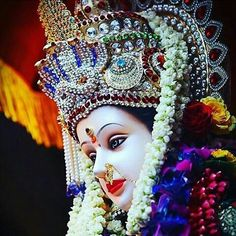 Navratri Puja will help you overcome all your negativities. Flourish with wealth on this Navratri by offering Homam to Lakshmi, Saraswathi & Durga. Lord Durga, Durga Ji, Durga Goddess, Maa Durga Photo, Maa Durga Image, Maa Durga Hd Wallpaper, Lord Krishna Wallpapers, Chaitra Navratri, Navratri Images