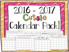 FREEBIE! This pack is perfect for holiday calendar gifts, classroom planning, etc.. Enjoy!