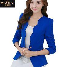 New Women's One Button Slim Fashion Office Business Blazer Suit Casual Jacket Female Coat Outwear Blazers For Women, Suits For Women, Jackets For Women, Women's Blazers, Ladies Blazers, White Blazers, Look Casual, Casual Fall, Casual Chic