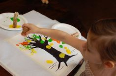 Toddler Art - Autumn Tree Painting - Inner Child Fun great fall painting idea to do with toddlers - - Pinned by Visit for all our pediatric therapy pins Fall Arts And Crafts, Autumn Crafts, Autumn Art, Autumn Theme, Holiday Crafts, Toddler Art, Toddler Crafts, Projects For Kids, Crafts For Kids