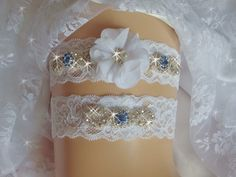 A personal favorite from my Etsy shop https://www.etsy.com/listing/246000571/blue-sapphire-jeweled-lace-wedding
