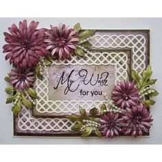 Heartfelt Creations - Magenta Delicate Asters  Project