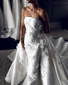 15 Awesome Strapless Wedding Dresses For Every Bride ❤ strapless wedding dresses floral appliques with overskirt leah da gloria #weddingforward #wedding #bride #weddingoutfit #bridaloutfit #weddinggown