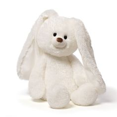 Floppy is a great bunny to hold cuddle with and even take with you where ever you go. His long white floppy ears give him lots of character. 15' sitting...