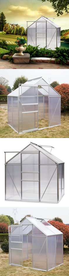 Greenhouses and Cold Frames 139939: Outdoor Polycarbonate Greenhouse ...