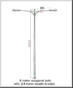 Specification of octagonal pole india