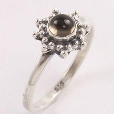 925 Sterling Silver Ring Size US 5 Smoky Quartz Gemstone Manufacturer Smoky Quartz Ring, Sterling Silver Rings, Brooch, Engagement Rings, Gemstones, Ebay, Jewelry, Enagement Rings, Wedding Rings