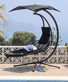 This Black Helicopter Swing Chair by Trans-Continental Group is perfect! #zulilyfinds
