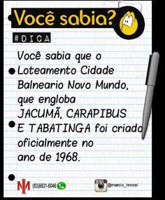 #DICA DA REGIÃO #Litoral Sul da #Paraíba  #Jacumã #www.marcioimovel.com