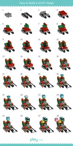 LEGO How-to Build: Sleigh and Reindeer • Pley Blog