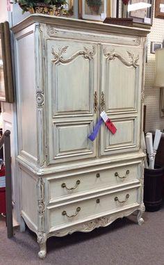 Beautifully painted armoire... Spott 6/18 at A Classy Flea in Marietta, GA