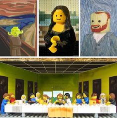 LEGO remakes of classic artworks