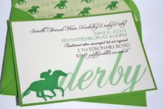 Kentucky Derby Invitations