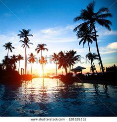 Sunrise On Caribbean Beach Foto Stock 125565929 : Shutterstock