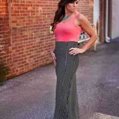 coral maxi dress from Sta-Glam for $34.99 on Square Market