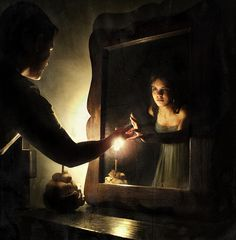 """One of my favorite digital manipulations. """"Look at your face in the Mirror..."""" - Mônica Fadul  http://www.flickr.com/photos/nika_fadul/"""