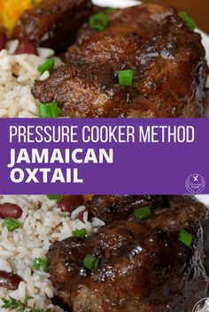 Pressure cooker recipes 37858453102928660 - This is a must try recipe for fall-off-the-bone tender Jamaican oxtail with rich flavor. This dish is prepared faster and easier using a pressure cooker. Oxtail Recipe Pressure Cooker, Using A Pressure Cooker, Pressure Cooking, Slow Cooker, Jamaican Dishes, Jamaican Recipes, Jamaican Cuisine, Oxtail Recipes Crockpot, Beef Recipes